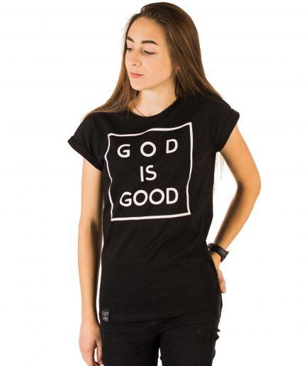 god is good czarna damska