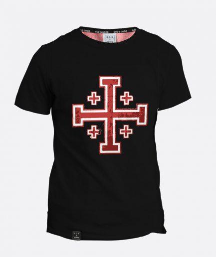 krzyż jerozolimski czarna